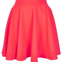 Fluro Pink Skater Skirt - Full & Flippy Skirts - Skirts  - Clothing