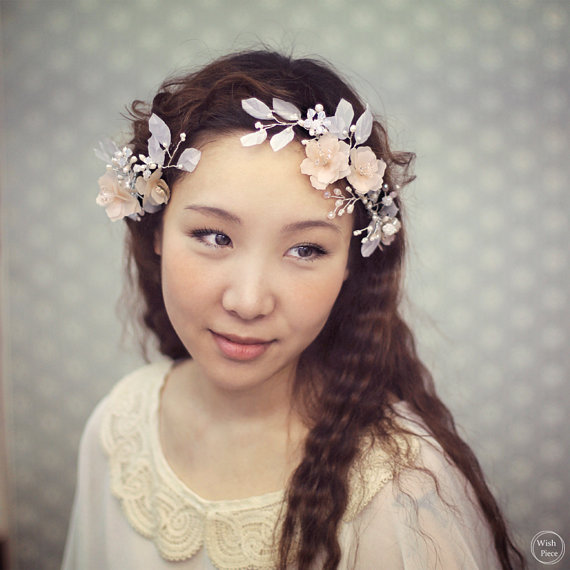 Floral Headpiece For Wedding: Romantic From WishPiece On Etsy