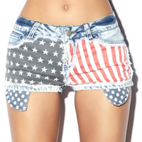 American Flag Denim Cutoffs Forever 21
