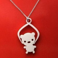 Toy Grabber Necklace Bear by Mariska on Etsy