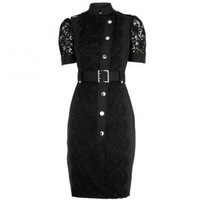 Bqueen Lace Dress Black K169H - Designer Shoes|Bqueenshoes.com