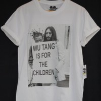 Actual Fact Wu Tang Is For The Children ODB & John Lennon Hip Hop Tee T-Shirt: Amazon.co.uk: Clothing