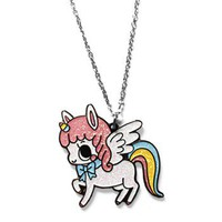 Handmade Gifts | Independent Design | Vintage Goods Glitter Unicorn Necklace - Necklaces - Jewelry - Girls