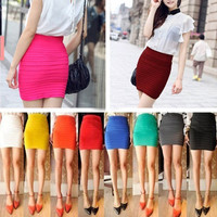 PenBangs — Candy Colored Mini Skirt