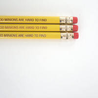 good minions are hard to find pencil set 3 by thecarboncrusader