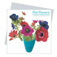Oots Flat Flowers Window Stickers Originals in Anemone Blue - FFO-D - All Wall Art - Wall Art & Coverings - Decor