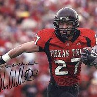 Wes Welker Texas A & M Signed 8x10 | Authentic Autographed