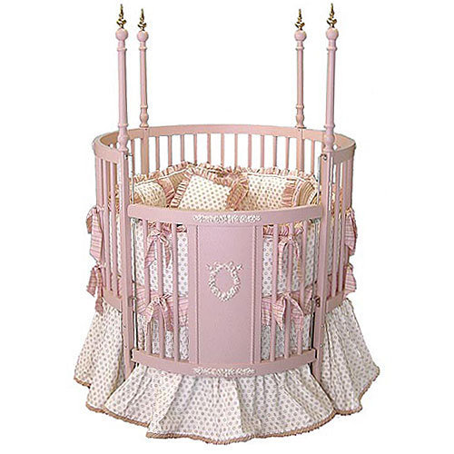 Pink Versailles Round Crib All Baby From Posh Tots