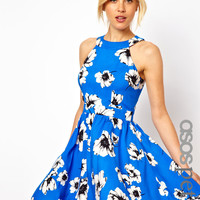 ASOS PETITE Exclusive Skater Dress In Floral Print
