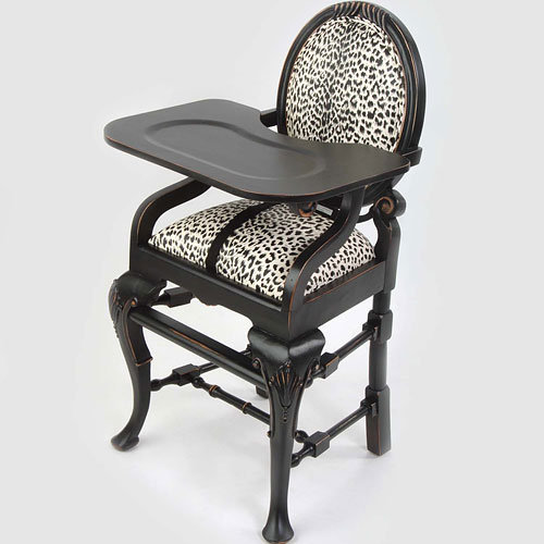 Oval Highchair In Leopard : Jungle Animals Safari at PoshTots