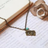 smile for the camera necklace by Violet Bella