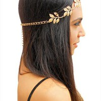 Rouelle EVE Headpiece: Gold Leaf Grecian Headband from RouelleDesigns