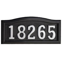 SoftCurve | Black Cast Aluminum Address Plaque | Home Depot Canada
