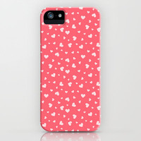Hearts Pattern #6 iPhone & iPod Case by Ornaart