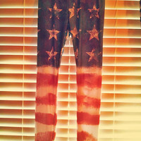 Stars & Stripes Back Slashed Leggings