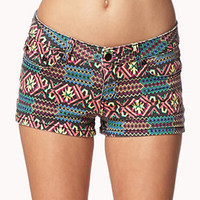Tribal Print Denim Shorts | FOREVER 21 - 2057381237
