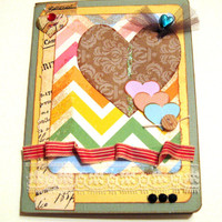 Heart Card by MissCrackleberry on Etsy