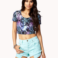 Crystal Print Crop Top | FOREVER 21 - 2062561859