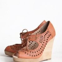 Mindy Lace Up Wedge | Modern Vintage Shoes