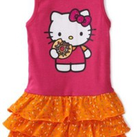 Hello Kitty Girls 2-6X Knit Dress With Cupcake And Sugar Glitter