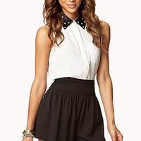 Pleated Crepe Woven Shorts | FOREVER 21 - 2048216976