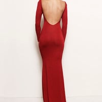 Vivien Backless Train Gown