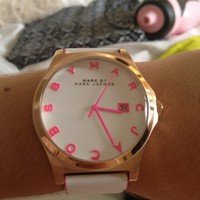 Marc Jacobs Henry White Dial Rose Gold-tone Steel Ladies Watch