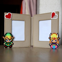 Legend of Zelda Photo Frame Double Mini Book Style by BeadxBead