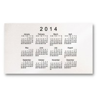 2014 Pocket Calendar Business Card from Zazzle.com