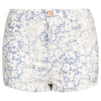 MOTO High Waisted White Hotpant - Shorts  - Clothing