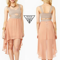 High Low Chiffon Dress from Blacksheeps!
