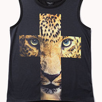 Leopard Cross Muscle Tee | FOREVER 21 - 2074080455