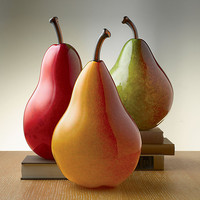 Large Pears by Michael Cohn and Molly Stone: Art Glass Sculpture - Artful Home
