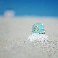 Nautical jewelry Seashell Ring - nature inspired resin Jewery