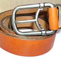 tan leather 10 oz mans belt $49.99