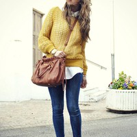 Pointelle-knit cotton sweater on LoLoBu