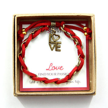 Love Charm Bracelet in Gift Box
