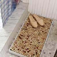 Nice DIY Wine Cork Bath Mat - Home Decorating Trends