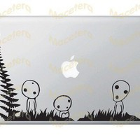 Kodama Tree Spirit - Macbook / Laptop / Wall / Window - Vinyl Decal | Macetera - Techcraft on ArtFire