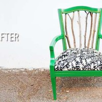 Trash to Treasure Statement Chair Photos 1 - DIY Tree Branch Seating pictures, photos, images