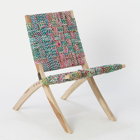Found Fabric Easy Chair