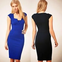 Bodycon Cap Business Formal Party Dress Casual