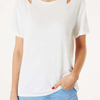 Split Shoulder Tee - Jersey Tops  - Clothing