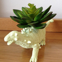 Up-cycled Dinosaur Planter