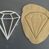 Big diamond cookie cutter, 3D printed