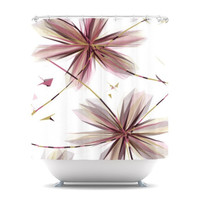 "Alison Coxon ""Flower Aubergine"" Shower Curtain 