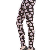 Pushing Daisies Skull Punk Leggings