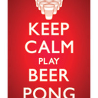 'Keep Calm Play Beer Pong' Poster