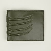 Alexander McQueen Men's Vertebrae Leather Card Holder With Money Clip