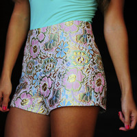 A Metallic Wonderland Shorts: Multi | Hope's